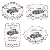 Set of vintage car cards Royalty Free Stock Photos