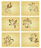 Set of vintage cards. Set of businrss cards in vintage style for design Royalty Free Stock Photography