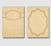 Set of vintage cards, invitations or banners. Vector illustration Royalty Free Stock Images