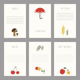 Set of vintage cards  templates editable. Stock Photo