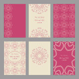 Set of of vintage cards  templates editable. Wedding invi Stock Photography