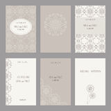 Set of of vintage cards  templates editable. Set of of vintage cards  templates. Wedding invitation сard, thank you card, save the date cards.  RSVP card Royalty Free Stock Images