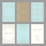 Set of of vintage cards  templates editable. Set of of vintage cards  templates. Wedding invitation сard, thank you card, save the date cards.  RSVP card Stock Image