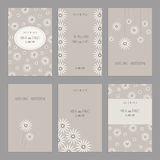 Set of of vintage cards  templates editable. Set of of vintage cards  templates. Wedding invitation сard, thank you card, save the date cards.  RSVP card Royalty Free Stock Image