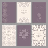 Set of vintage cards  templates editable. Set of of vintage cards  templates. Wedding invitation сard, thank you card, save the date cards.  RSVP card Stock Photos