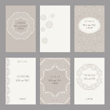 Set of of vintage cards  templates editable. Royalty Free Stock Images