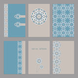 Set of vintage cards  templates editable. Royalty Free Stock Photo