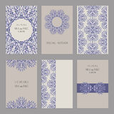 Set of vintage cards  templates editable. Royalty Free Stock Photography