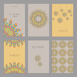 Set of of vintage cards  templates  in ethnic Ame Royalty Free Stock Photos