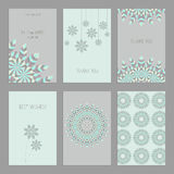 Set of vintage cards  templates  in ethnic style Stock Photos
