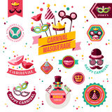 Set Of Vintage Carnival Badges and Other Elements Stock Image