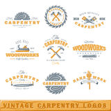 Set of vintage carpentry logos. Posters, stamps, banners and design elements. Vector illustration vector illustration