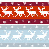 Set of vintage Christmas borders. With deer and flakes Royalty Free Stock Image