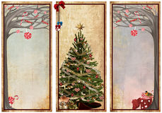 Set of vintage christmas labels Royalty Free Stock Images