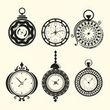 Set of vintage clocks Stock Photo