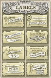 Set of Vintage Clothing Labels Royalty Free Stock Photo