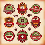 Set of vintage coffee labels Stock Images