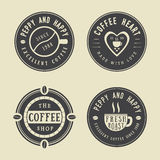 Set of vintage coffee logos, labels and emblems Stock Photography
