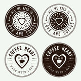 Set of vintage coffee logos, labels and emblems Stock Image