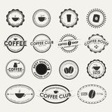 Set of vintage coffee logos Stock Image