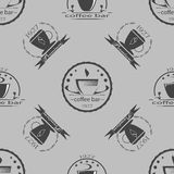 Set of vintage coffee themed monochrome labels. Stock Images