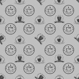 Set of vintage coffee themed monochrome labels. Royalty Free Stock Photos