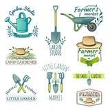 Set of vintage color retro logos, badges, badges Royalty Free Stock Images
