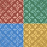 Set - vector vintage color seamless patterns Stock Image