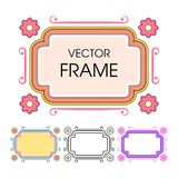 Set of vintage colored frames in a lineart style. Vintage colored frames in a lineart style. A decorative frames for an inscription, title, invitation or Vector Illustration