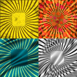 Set Vintage Colored Rays background. EPS10. Vector Stock Image