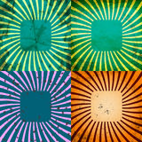 Set Vintage Colored Rays background. EPS10. Vector Royalty Free Stock Image