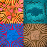 Set Vintage Colored Rays background. EPS10. Vector Stock Images