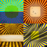 Set Vintage Colored Rays background. EPS10. Vector. Illustration Stock Image