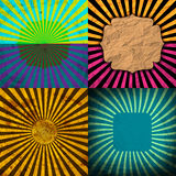 Set Vintage Colored Rays background. EPS10. Vector. Illustration Royalty Free Stock Image