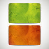 Set of vintage colorful cards with cardboard texture Royalty Free Stock Photography