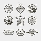 Set of vintage cooking classes logos. retro styled culinary school emblems. vector illustration. Set of vintage cooking classes logos. retro styled culinary stock illustration