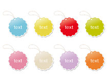 Set of vintage cute frames Royalty Free Stock Photo