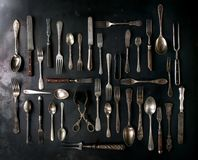 Set of vintage cutlery Royalty Free Stock Image
