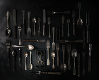 Set of vintage cutlery Stock Photo