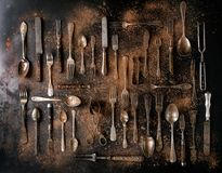 Set of vintage cutlery Stock Photography