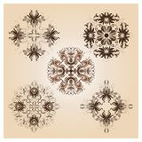 Set of vintage damask ornaments Royalty Free Stock Photography