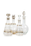 Set of vintage decanters Royalty Free Stock Photo