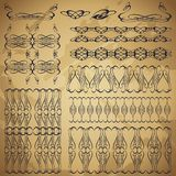 Set of vintage decorative borders. Stock Image