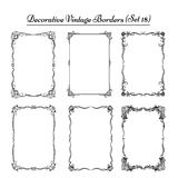 Set of Vintage decorative borders.. Decorative background with vintage borders Stock Photo