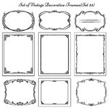Set of vintage decorative borders and frames. Royalty Free Stock Image