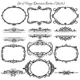 Set of vintage decorative borders and frames. Stock Photography