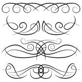 Set of vintage decorative curls, swirls, monograms and calligraphic borders royalty free illustration