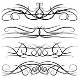Set of vintage decorative curls, swirls, monograms and calligraphic borders Royalty Free Stock Photo