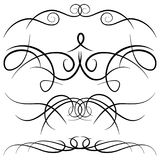Set of vintage decorative curls, swirls, monograms and calligraphic borders. Royalty Free Stock Images