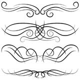 Set of vintage decorative curls, swirls, monograms and calligraphic borders Stock Photography